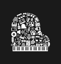 Piano art vector image vector image