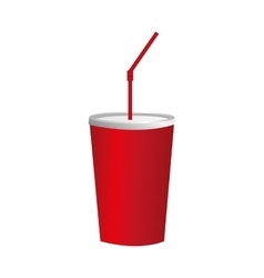 red soda cup icon image vector image