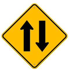 Yellow Sign Directional Arrows vector image vector image