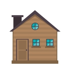 cottage wooden chimney exterior vector image