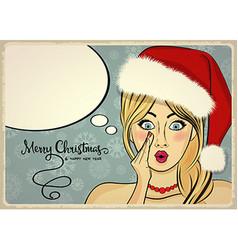 Customizable beautiful retro Christmas card with vector image