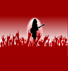 Enthusiastic audience vector