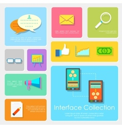 Flat Interface Design Collection vector image