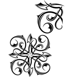 Set Tribal tattoo vector image vector image