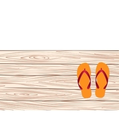 template with flip-flops vector image vector image