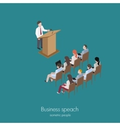 conference man speach vector image