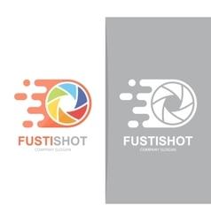 fast camera shutter logo combination Speed vector image vector image