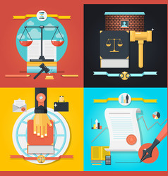 law composition set vector image vector image