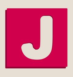 letter j sign design template element vector image vector image