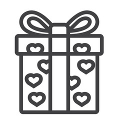 love present line icon valentines day vector image vector image