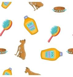 Pet dog pattern cartoon style vector