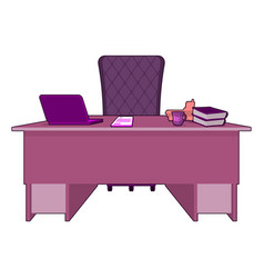 pink office gay boss lgbt office table director vector image vector image