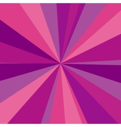 Purple red and pink rays background for your vector image vector image