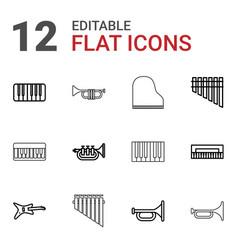 12 jazz icons vector image