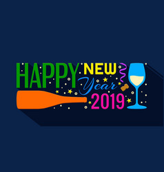 2019 happy new year banner vector