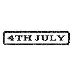 4th july watermark stamp vector image