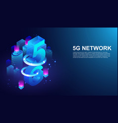 5g network wireless system 5th internet vector image