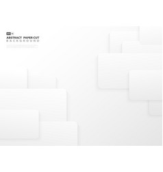 abstract gradient gray and white color paper cut t vector image