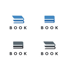 Abstract letter b for book logo icon template vector