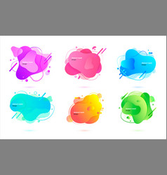 abstract liquid design creative banner for website vector image