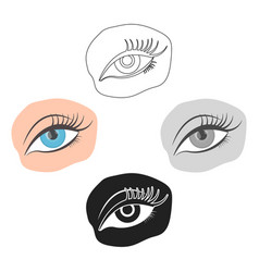 Applied mascara icon in cartoonblack style vector