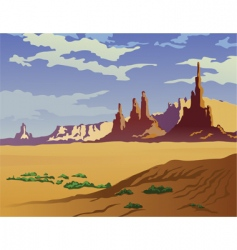 Arizona landscape vector