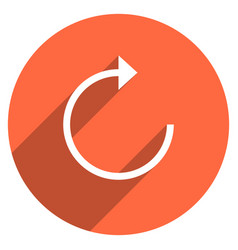 arrow sign reload icon circle button vector image