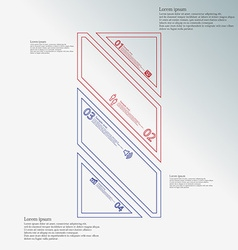 Bar infographic template askew divided to four vector