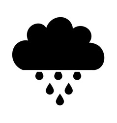 Beautiful fantasy cloud with rain drops vector