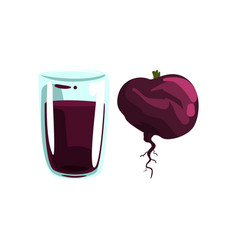 beetroot vegetable juice glass of natural vector image