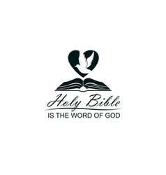 bible heart and dove vector image