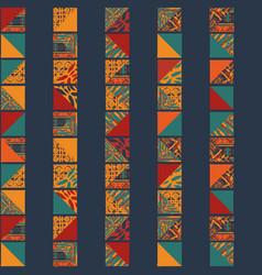 Boho seamless squares pattern vector