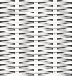 Cane flat woven white fiber seamless pattern vector