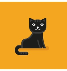 Cat icon in flat style vector