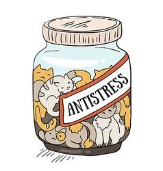 cats - antistress medicine cheerful hand drawn vector image