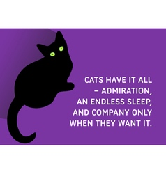 Cats Quote vector image