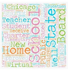 Chicago Schools Opens Its First Virtual Elementary vector image