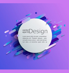 circle frame with modern gradient background vector image