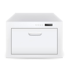 Closed dishwasher icon realistic style vector