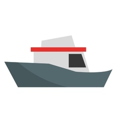 colorful cargo ship graphic vector image