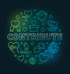 Contribute round colorful in vector