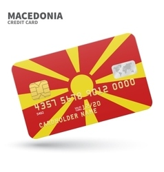 Credit card with Macedonia flag background for vector