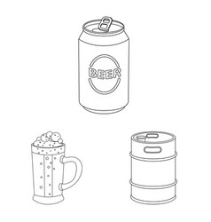 Design of pub and bar icon set of pub and vector