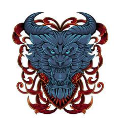 devil head mascot logo vector image
