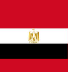Egypt national flag cairo vector
