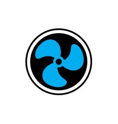 fan logo vector image