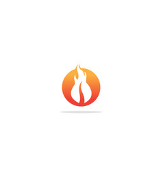 fire flame hot icon logo vector image