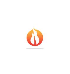 fire flame hot icon logo vector image