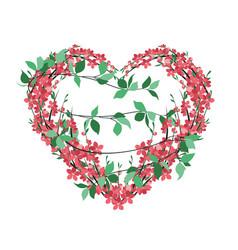 flower decoration sakura vector image