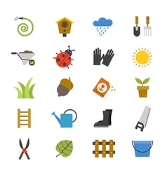 Garden Flat Icons color vector image